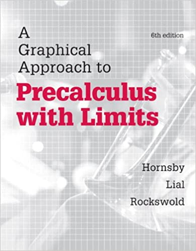 A Graphical Approach To Precalculus With Limits 6th Edition