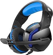 CIC Fone de Ouvido PHOINIKAS H-3 Com Fio Headset Gaming Som Estéreo Com LED Headphone Microfone para Jogo para PS4, Xbox One,