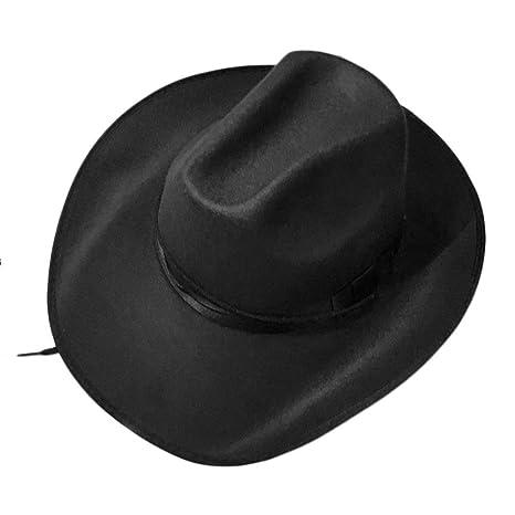 Cuerda Ajustable Hombre Mujer Estilo Occidental Gorras de Cachemira Vaquero  Vaquera Sombreros Color Puro Verano Sombrero 469a4dcbf30