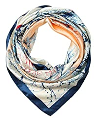 Provide The Best Quality Scarves and Customer Service on Amazon • Material: high quality 100% polyester, soft, smooth and shiny.• Dimension: 35*35 inches, 90*90cm, can be worn around neck, head, waist, or hair as well as on a hat or ha...