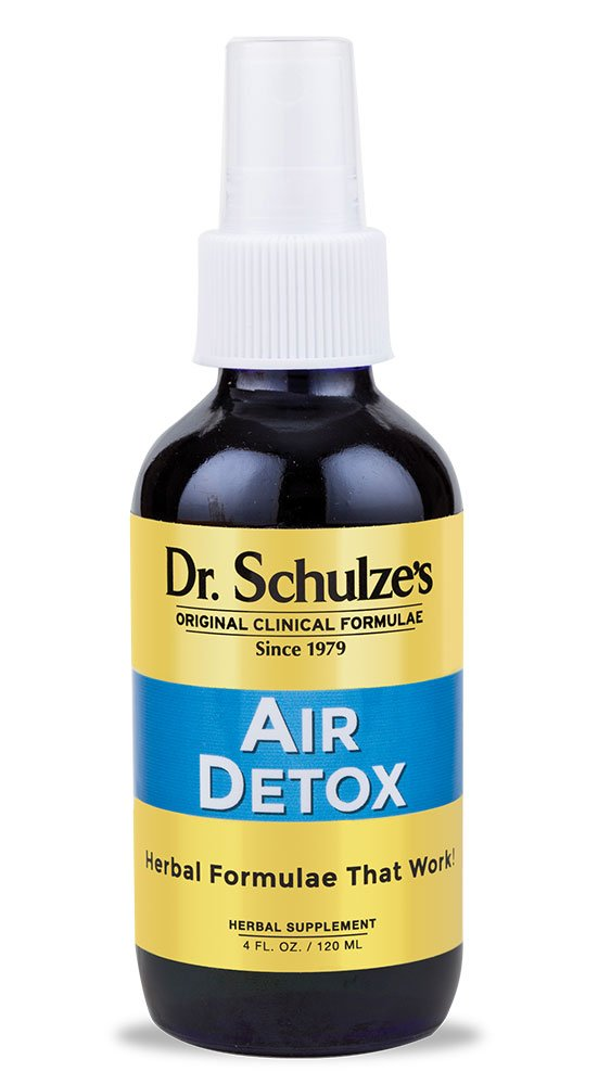 Dr. Schulze's   Air Detox   Stimulating Aroma That Disinfects & Purifies   Essential Oil Spray   Destroys Airborne Bacteria   Great for Home, Car, Office, Travel   Improve & Lift Spirit   4 oz Bottle