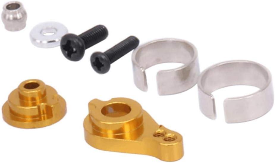 Hellery Buffer Servo Brazo 25T Amortiguador Metal para Juguete de Coche Radiocontrol 1/12 - Dorado