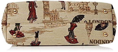 Bolso convertible de moda Signare para mujer en tela de tapiz bolso de hombro Miss London