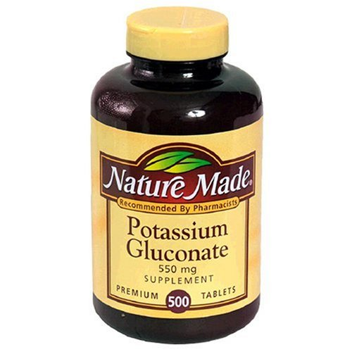 Nature Made Potassium Gluconate 550mg, 500 Tablets (Pack of 3) by Nature Made