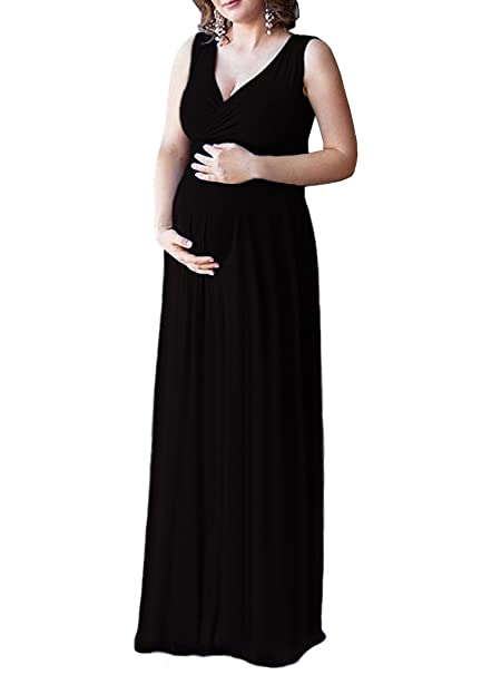 Zeroing Casual Plus Size Maxi Maternity Dress Pregnancy Evening