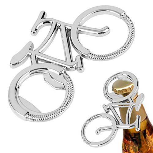 Portable Creative bottle opener church key flat bottle opener bartender bottle opener Bicycle Bottle Beer Opener Keychain Key Ring For Cycling Bike Lover by Gerenic