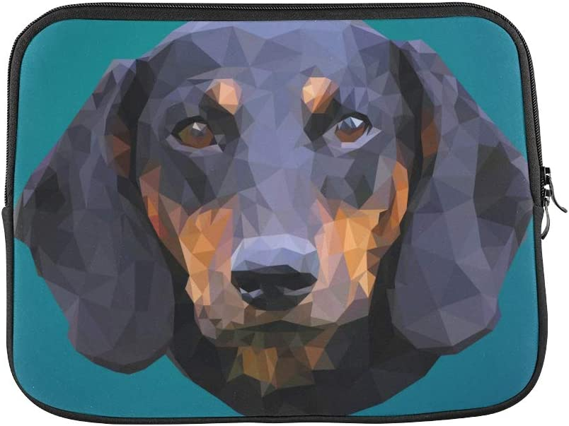 Unique Custom Dachshunds with Police Flags Print Sleeve Briefcase Soft Men Laptop Briefcase Briefcase Protective for MacBook Air 11