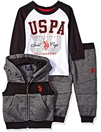 Baby Boys' T-Shirt, Vest and Sweatpant Set