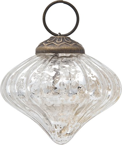 mercury glass ornamentcheck price luna - Mercury Glass Christmas Decorations