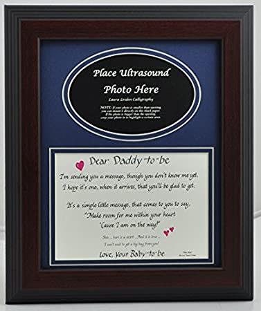 Amazoncom Daddy To Be Ultrasound Picture Frame 8x10 Desktop