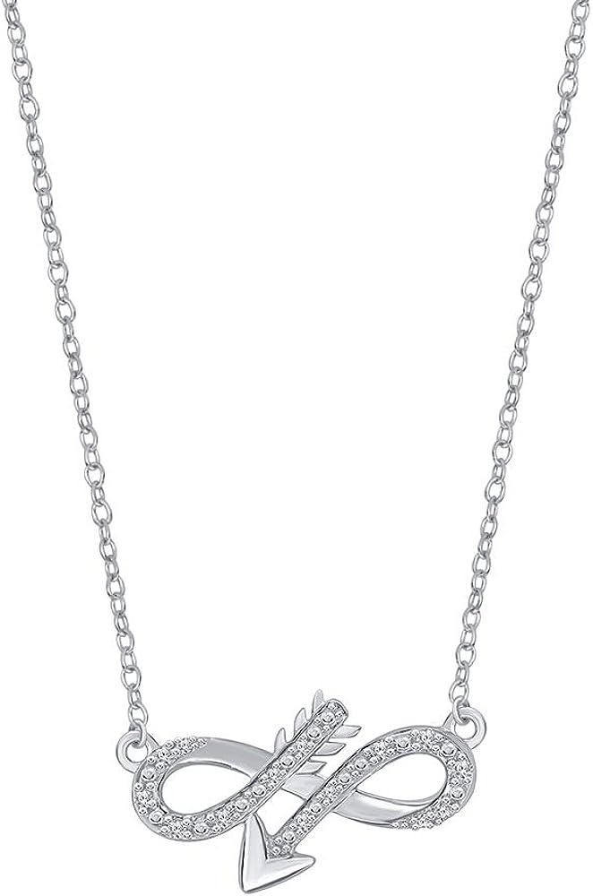 Beautiful Channel Cross 925 Sterling Silver Chain Pendant 0.10ct CZ Gemstone New