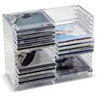 Clear Stackable CD Holder - holds 20 standard CD jewel cases