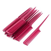 uxcell® Plastic Hairdressing Toothed Pointed Hair Styling Rat Tail Combs 20pcs