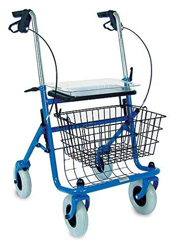 Brigss HealthCare DMI Traditional Steel Rollator, Blue