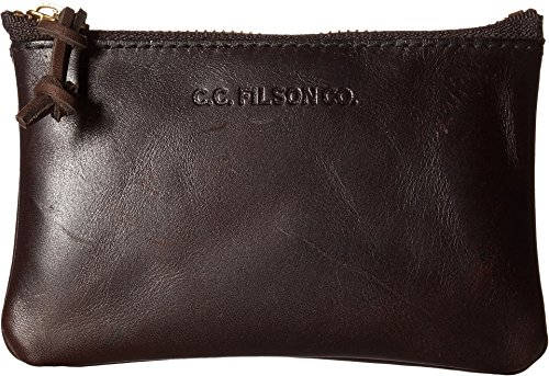 Filson Unisex Small Leather Pouch Brown One Size ()