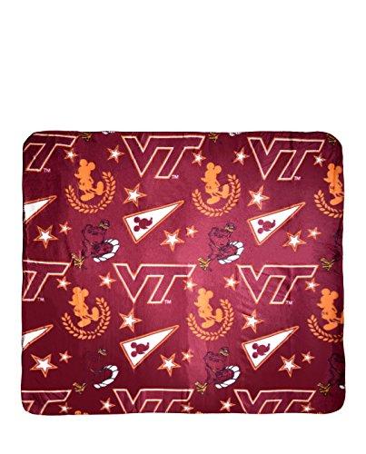 The Northwest Company NCAA Officially Licensed Mickey With Stars Fleece Throw Blanket (Virginia Tech Hokies)