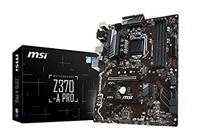 MSI Z370 GAMING VR Ready 64GB DDR4 ATX Motherboard