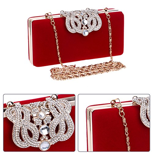 Party Red Bags Purse Ladies Chain Clutch Wallet Womens Dress Evening Wedding Bags vxFdqwSq