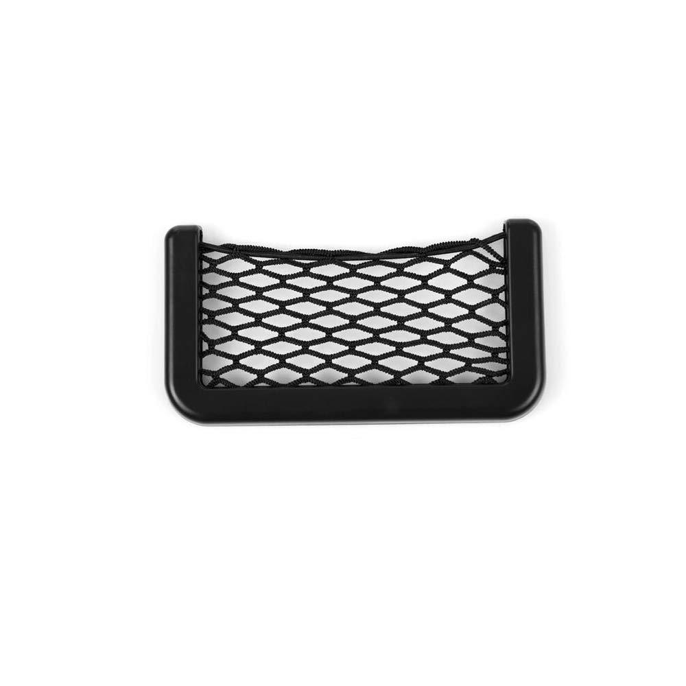 Ogquaton Sacchetto di Mash Bag Sacchetto di impacco di stoccaggio posteriore lato nero auto universale sacchetto resiliente tasche per chiave, telefono, borsa, sigaretta e altro piccolo oggetto (nero)