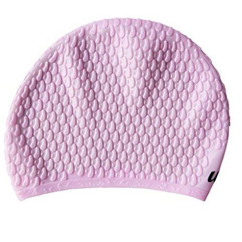 Parkinoon Forme élégante adultes respirant Bonnet de bain en silicone étanche Soin des Cheveux Ear protection Bonnet de bain