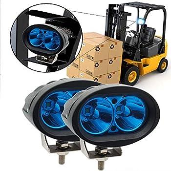 Amazon com: Blue Forklift Led Light Warehouse Safety Warning Lamp