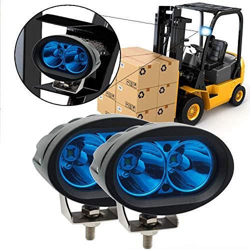Led Forklift Safety Light, Ourbest Blue 20W Cree LED Forklift Lights 12V 24V Warning Work Warehouse Lights SpotLight For Fork Truck Security Indicator(2Pcs)
