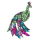 Baolustre Blue Green Peacock Brooch Silver Animal Trendy Alloy Women Lady Female Wedding Party,Green