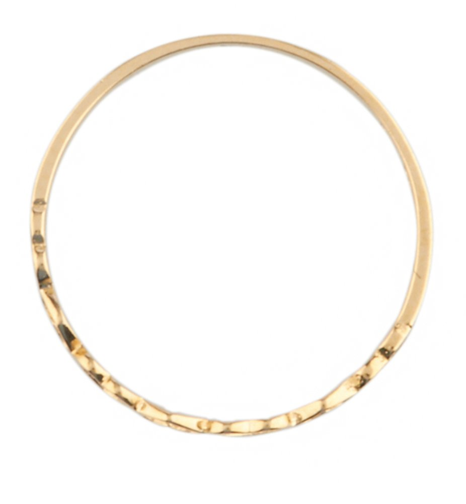 10k Yellow Gold Hearts Band Children Ring (GO-1809) by JOTW (Image #4)