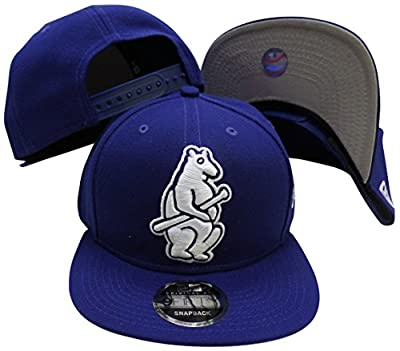 Chicago Cubs Navy 1914 Logo Grand 9FIFTY Adjustable Snapback Hat / Cap by New Era