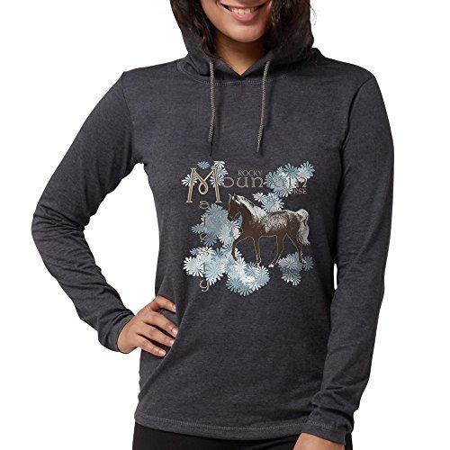 CafePress - Rocky Mountain Majesty Long Sleeve T-Shirt - Womens Hooded Shirt Heather Grey