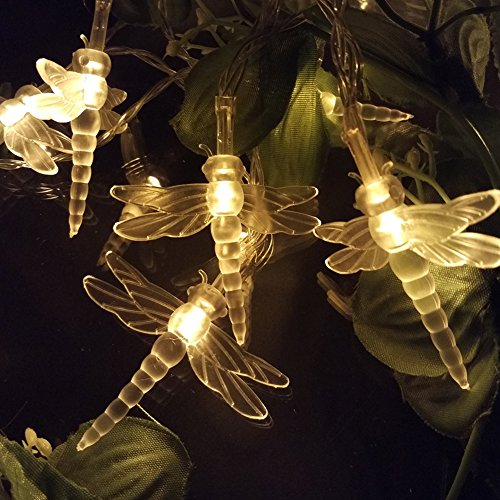 YIYANG 2M 6.6ft LED Fairy String Light Battery operated Novelty Dragonfly Styled for Christmas, Parties, Weddings, New Year Decorations, etc.(Blue) (Decorazioni Di Halloween)