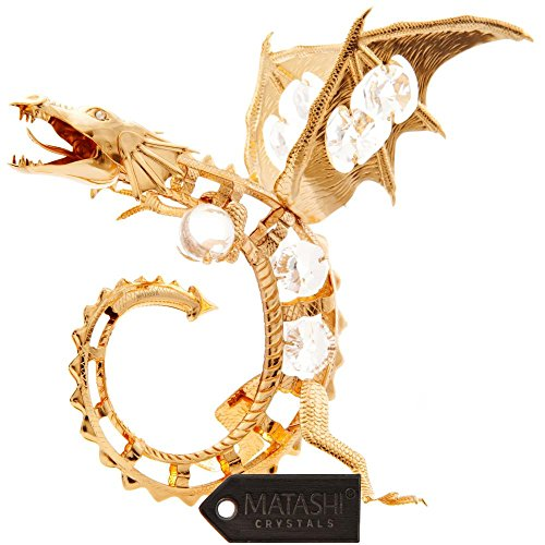 24K Gold Plated Crystal Studded