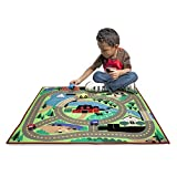 Melissa & Doug Round the Town Road Rug and Car