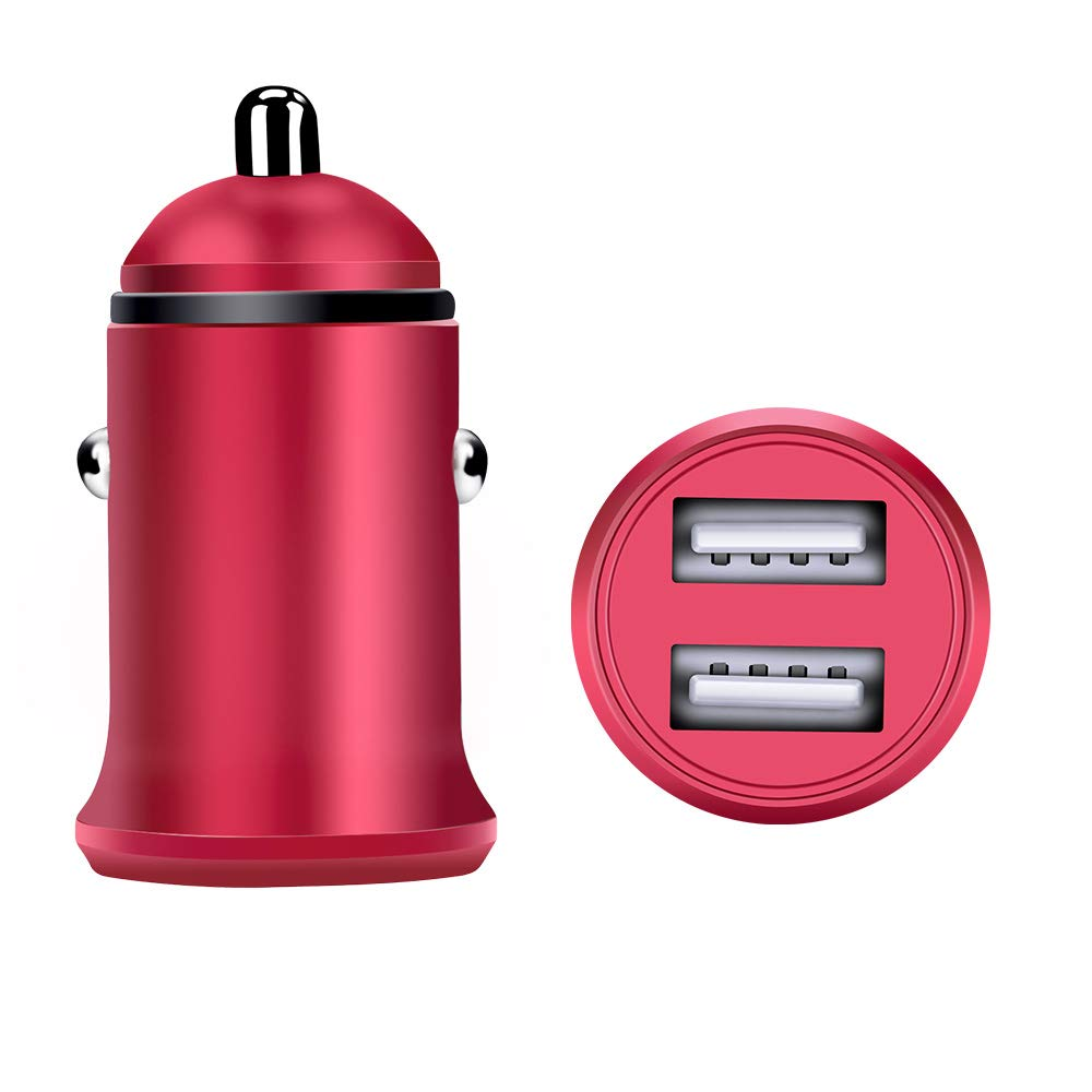 Car Charger,Sicodo 2Pack 4.8A Dual USB Port Rapid Car Charger Adapter Compatible with iPhone X,8,8 Plus,7 Plus,7S,6 Plus,6S,iPad,Tablet,Samsung Galaxy S9 S8,S7 Edge,HTC,Sony and Other USB Device