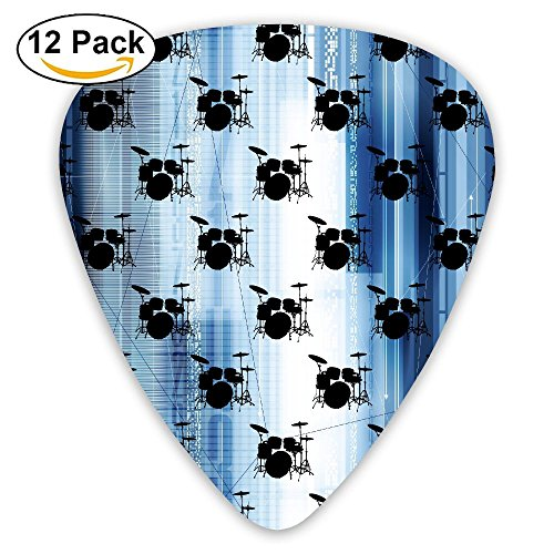- SzgPIX Drums Musical Instruments Stylish Guitar Picks For Electric Guitar,Acoustic Guitar,Mandolin,Banjos,Ukulele,Resonator And Bass 12-Pack Includes 0.46mm,0.73mm,0.96mm