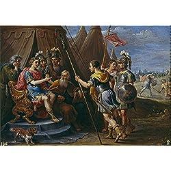 Oil Painting 'Teniers David Godofredo Y El Consejo Escuchan La Demanda De Armida 1628 30' 16 x 23 inch / 41 x 58 cm , on High Definition HD canvas prints is for Gifts And Dining Room, Gym And decor