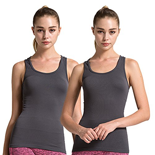 6a26021e483a3 Galleon - Women Long Workout Shirts Athletic Gym Fitness Racerback Tank Tops  Semath