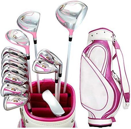 ゴルフクラブ 女性右手ゴルフパターセットポールアウトドアスポーツゴルフコンビネーションセット丈夫で丈夫なピンクゴルフクラブ (色 : One color, サイズ : ワンサイズ)