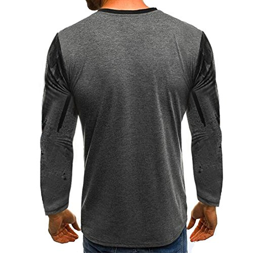 Tee shirt Longues Shirt Rond Imprimé Oversize Sweat Slim Itisme Fit Mode Homme Col Noël Basic Manches Sweatshirt T Noir q Top Décontracté À Encolure xUxAvtZ