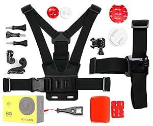 DURAGADGET Kit de accesorios para cámaras deportivas o cámaras de acción COOLER