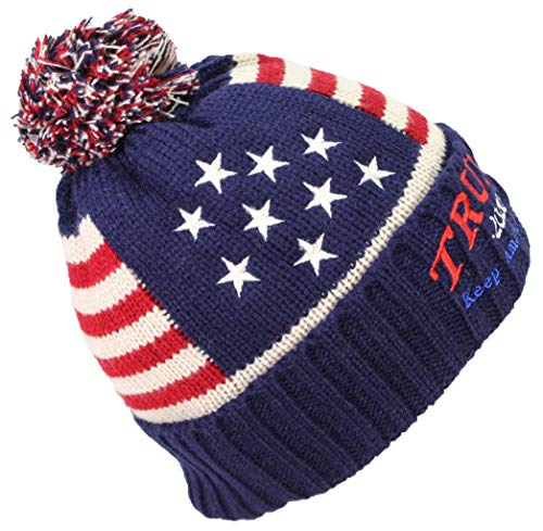 773d7000fc0 Best Winter Hats Adult US Flag Embroidered Trump 2020 Keep America Great  Beanie