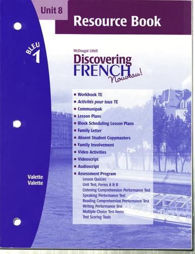 McDougal Littell Discovering French Nouveau Bleu Level 1