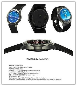 Amazon.com: KOBWA 3G WIFI Bluetooth Smart Watch Cell Phone ...