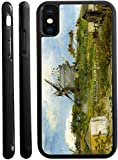 Rikki Knight Van Gogh Art Blut fin Windmill Design iPhone X Hybrid TPU Case Cover (Black Rubber with Front Bumper Protection) for iPhone X