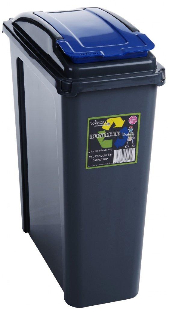 Wham Recycling Bin 25Ltr Blue