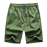 Onin 2018 New Summer Men's Loose Casual Shorts Gradient Couple Beach Pants,ArmyGreen,XXL