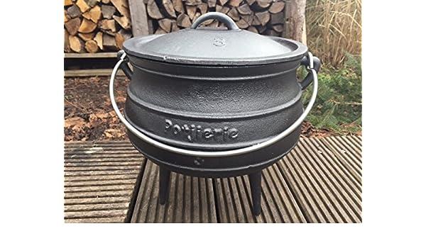 potjie Talla 3 - südafr Americanos Dutch Oven - para 4 - 8 personas: Amazon.es: Jardín
