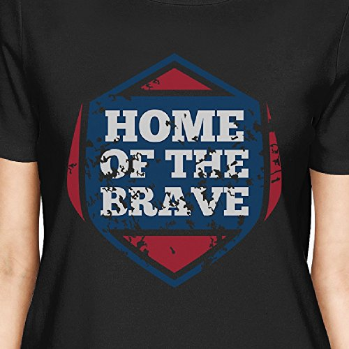 T Courtes shirt 365 Femme Of Home Unique Taille The Manches Brave Printing 5I6qwWfwS