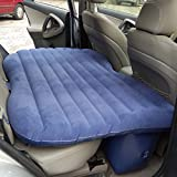 Dickin Portable Travel Car Inflatable Air Mattress Sleep Rest Back Seat With Built-in Pillow and Electric Pump