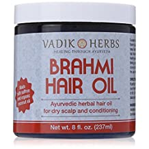 Brahmi Oil - Ayurvedic Hair Growth Oil (with saffron) ~ Top selling hair growth treatments on Amazon.com ~ 100% satisfaction guaranteed or money back